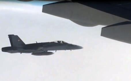 Avion cu diplomati si ziaristi rusi, interceptat de aviatia elvetiana. Kremlinul a reactionat dur