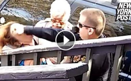 Femeie lovita violent, cu pumnul in fata de un politist in Arizona. Incidentul a fost filmat de martori. VIDEO