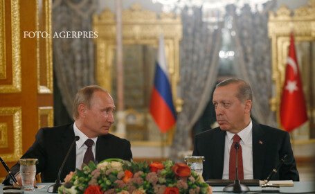 Convorbire Putin-Erdogan despre situatia din Siria. Declaratia presedintelui turc care a infuriat Kremlinul