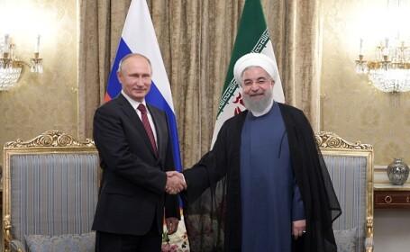 Vladimir Putin și Hassan Rouhani