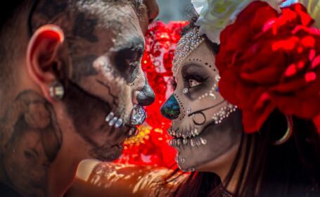 """Marș al """"zombilor"""" în Sao Paolo, Brazilia"""