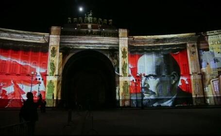 """Revoluția din Rusia, marcată la Sankt Petersburg prin """"traseele roșii"""""""