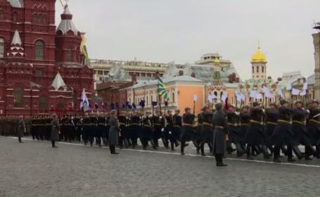 Paradă modestă la Moscova, la împlinirea a 100 de ani de la Revoluția Bolșevică