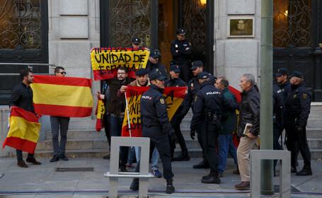 Proteste în fața Curții Supreme ale Spaniei