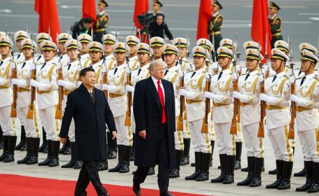 Donald Trump primit cu mare fast în China