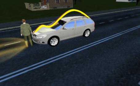 Accident neobișnuit în Galați. Un bărbat a ajuns în portbagajul mașinii care l-a lovit