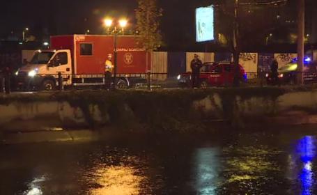 Un șofer de 23 de ani a ajuns cu mașina în Dâmbovița, vrând să evite o coliziune