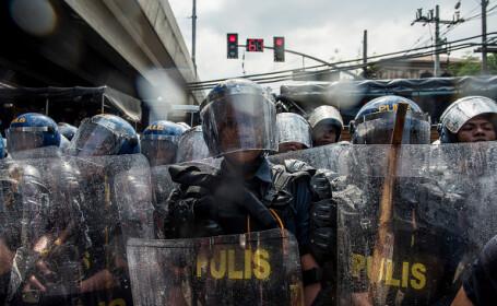 Proteste în Manila împotriva lui Donald Trump
