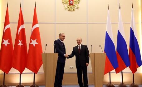 Tayyip Erdogan l-a întâlnit pe Vladimir Putin