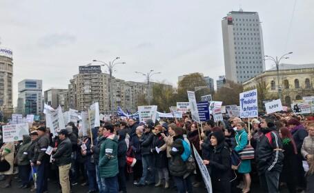 Medicii de familie au ieşit miercuri în strada pentru a-şi manifesta nemulţumirea faţă de condiţiile de muncă