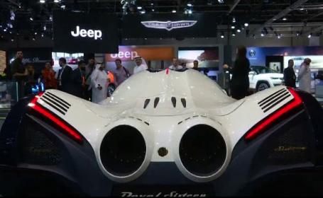Salonul Auto din Dubai. Cum arată mașina unicat, inspirată dintr-un avion militar invizibil