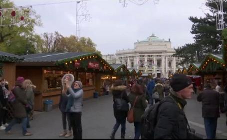 Viena, în atmosferă de sărbătoare: s-au deschis târgurile de Crăciun