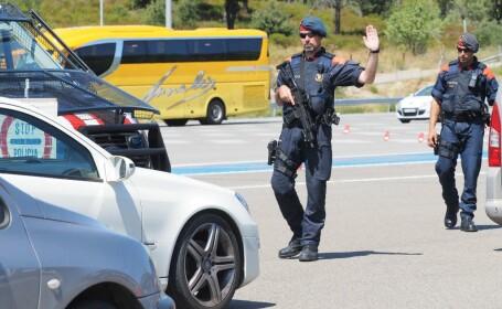 Bărbat împuşcat la graniţa între Franţa şi Spania, după ce i-a atacat pe agenţi
