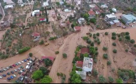 Peisajele dezolante după inundațiile violente care au lovit Grecia: 19 morți
