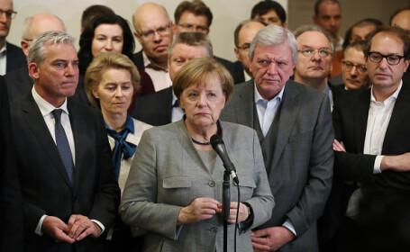 """Negocierile pentru formarea unei coaliții, în colaps. Merkel: """"O zi de profundă reflexie"""""""