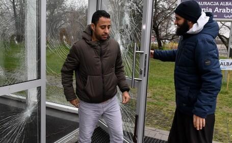 Centrul musulman din Varşovia, vandalizat. În incinta acestuia se află și o moschee