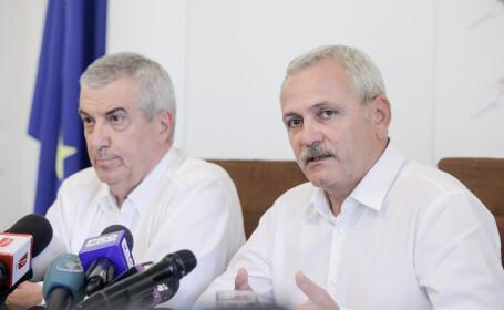 Liviu Dragnea și Călin Popescu Tăriceanu la ICCJ