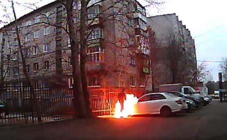 rus care da foc masinii