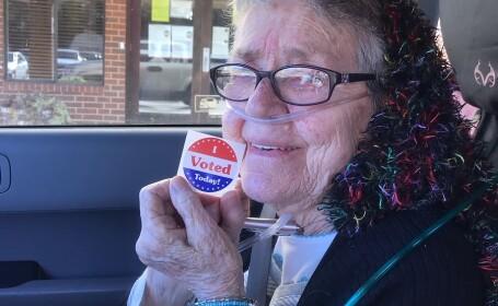 O femeie din SUA a mers la vot pentru prima dată la 82 de ani, apoi a murit. Pe cine a ales