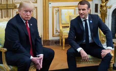 Întâlnire tensionată între Trump și Macron. Ce a spus liderul francez despre o armată europeană