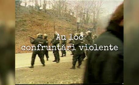 """""""100 de ani în 100 de zile"""". 1999 - O nouă mineriadă cu confruntări violente. Papa Ioan Paul al II-lea vine în România"""