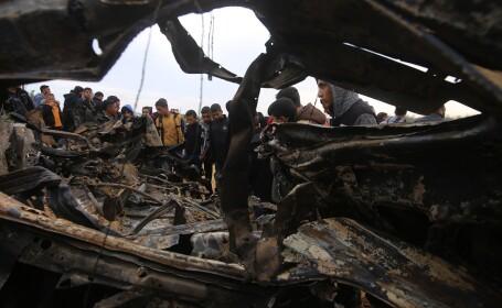 distrugeri după un atac israelian în Gaza