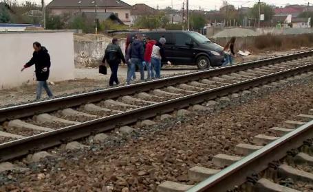 O bătrână a fost lovită de tren în timp ce încerca să traverseze calea ferată