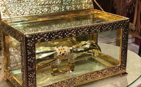 Racla cu mâna Sfântului Apostol Andrei a fost adusă la Catedrala Patriarhală