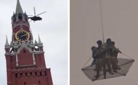 Apariție misterioasă deasupra Kremlinului în Moscova. Ce au filmat pe cer rușii. VIDEO