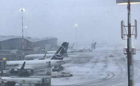 ninsoare aeroport