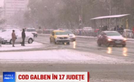 Strat de zăpadă și ger in Capitală. 11 accidente produse în ultimele 24 de ore
