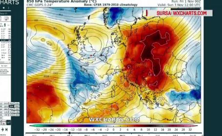 Val de aer tropical după vortexul polar. Temperaturi mai mari și cu 20 de grade