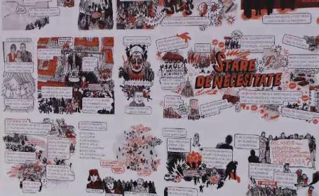 Benzile desenate care le amintesc timișorenilor de evenimentele tragice de la Revoluție