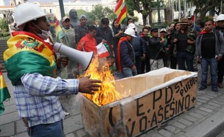 Jafuri şi atacuri în mai multe oraşe din Bolivia, după \
