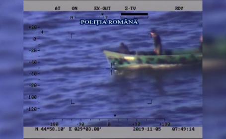Tone de peşte, confiscate de poliţie. Braconierii au fost urmăriţi cu elicopterul