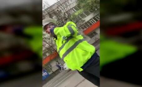 Scandal între agenți în București