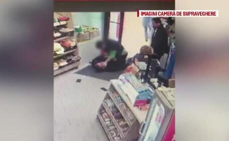 Angajata unui magazin din Timișoara a pus la pământ un hoț. Iubita lui l-a salvat