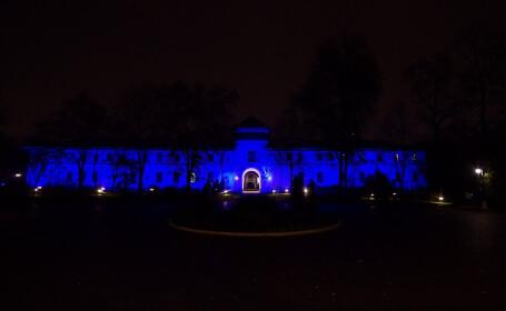 Palatul Cotroceni, iluminat cu prilejul Zilei Internaționale a Drepturilor Copilului