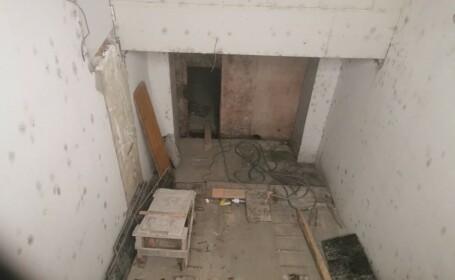 Un lift plin ochi cu oameni s-a prăbuşit într-un bloc din Constanţa