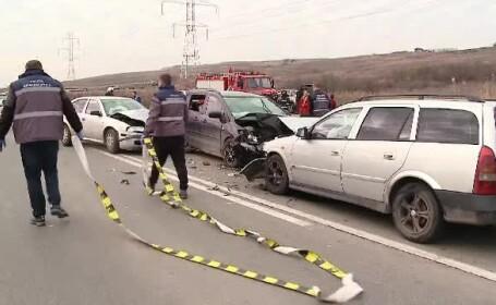 Accident în lanț pe centura Clujului. Patru adulți și doi copii au ajuns la spital