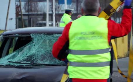 Val de accidente în toată țara. Pietoni nevinovați loviți de mașini pe trotuare