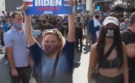 Rezultate alegeri SUA. Americanii au ieșit în stradă după ce Joe Biden a câştigat Casa Albă