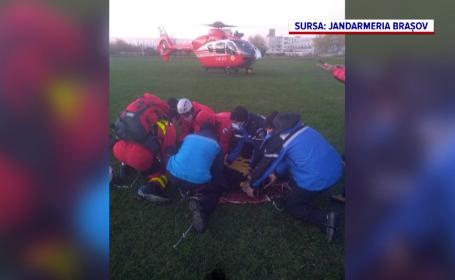 Un bărbat a murit, iar fiul său de 15 ani este grav rănit după ce au căzut de pe versanți în Făgăraș