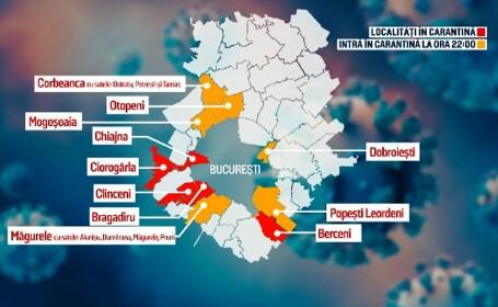 Carantină în Otopeni, Mogoșoaia, Corbeanca, Dobroești, Măgurele și Popești-Leordeni, de sâmbătă, ora 22:00