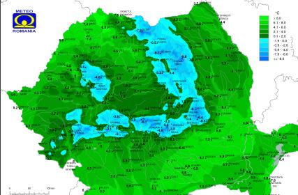 temperaturi in Romania