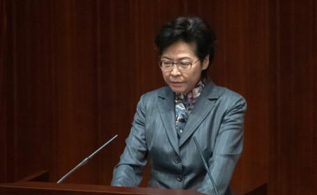 Şefa executivului din Hong Kong, Carrie Lam