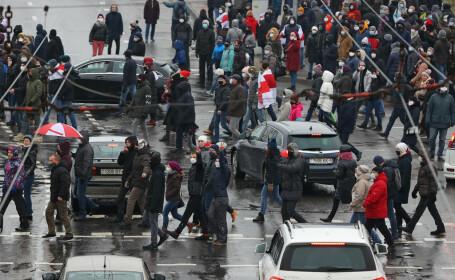 Protest în Minsk