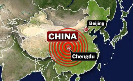 Au fost difuzate primele imagini cu pagubele cutremurului din China