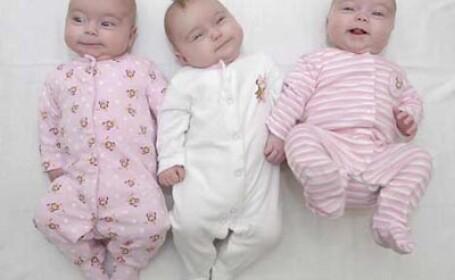 Caz rarisim: a nascut tripleti identici