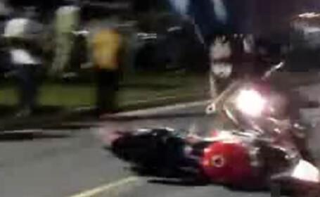 Impact devastator intre doua motociclete! VEZI VIDEO!